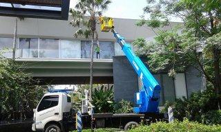 รถกระเช้าตัดต้นไม้