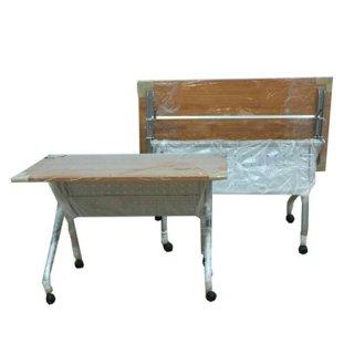 โต๊ะพับอเนกประสงค์ มีล้อเลื่อน มีบังตาด้านหน้า