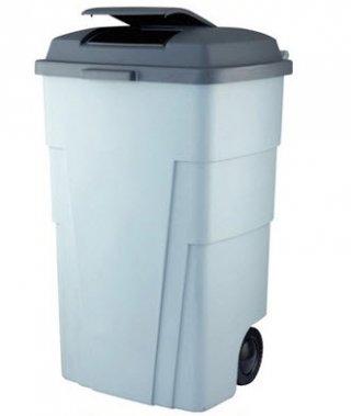 ถังขยะมีล้อเข็นขนาด 120 ลิตร มีฝาเปิดปิด