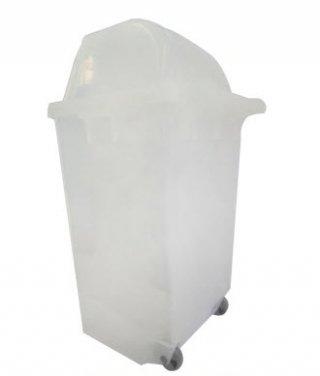 ถังขยะใหญ่พร้อมล้อเข็น 120 ลิตร สีใส 1 ช่องทิ้ง