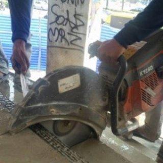 งานตัดคอนกรีตด้วย Floor Saw