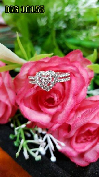 แหวนเพชรประกบหัวใจ DRG 10155