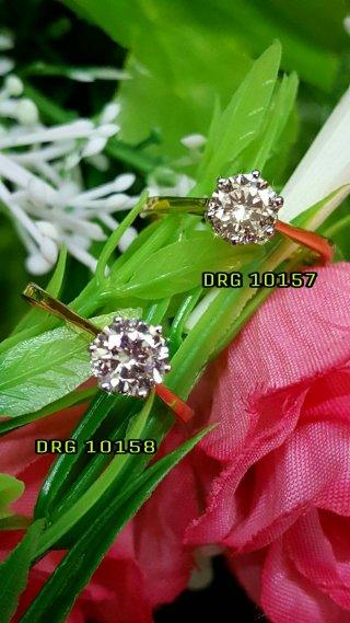 แหวนเพชรชูเม็ดเดี่ยว DRG 10158
