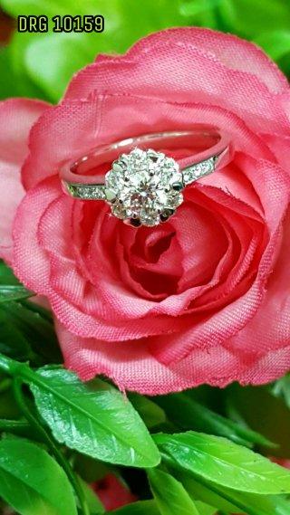 แหวนเพชรชูเม็ดเดี่ยว DRG 10159