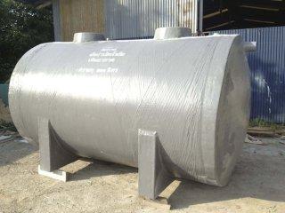 ถังบำบัดน้ำเสียไฟเบอร์กลาส ทรงแคปซูล 8,000 ลิตร