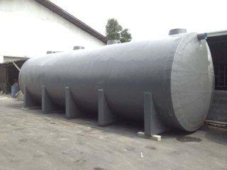 ถังบำบัดน้ำเสียไฟเบอร์กลาส ทรงแคปซูล 30,000 ลิตร