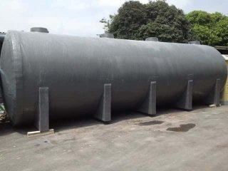 ถังบำบัดน้ำเสียไฟเบอร์กลาส ทรงแคปซูล 50,000 ลิตร