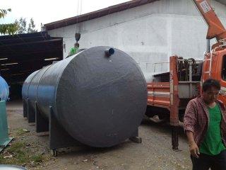 ถังบำบัดน้ำเสียไฟเบอร์กลาส ทรงแคปซูล 60,000 ลิตร