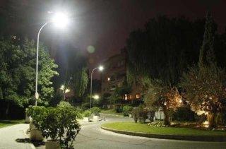 โคมไฟถนน LED พลังงานแสงอาทิตย์