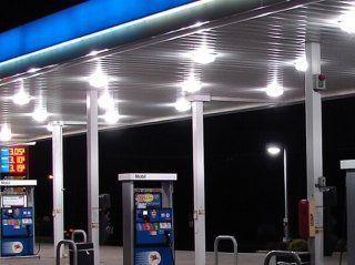 LED Canopy Lights for Gas Station Pump Canopies