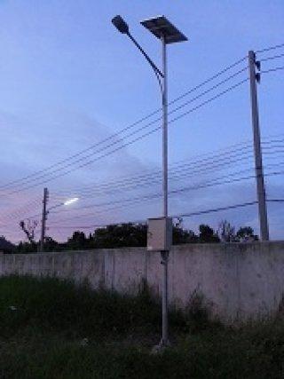 โคมไฟถนนแอลอีดี พลังงานแสงอาทิตย์