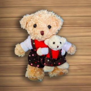 ตุ๊กตาหมีพ่อ-ลูก