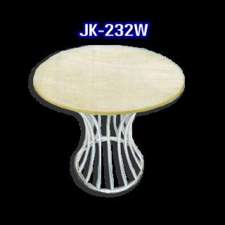 โต๊ะสแตนเลส ทรงวงกลม รหัส JK-232W