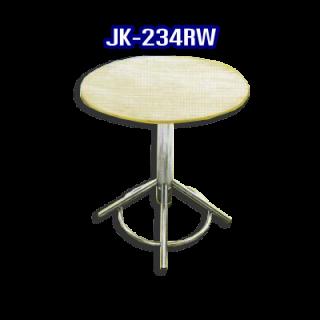 โต๊ะสแตนเลส ทรงวงกลม รหัส JK-234RW