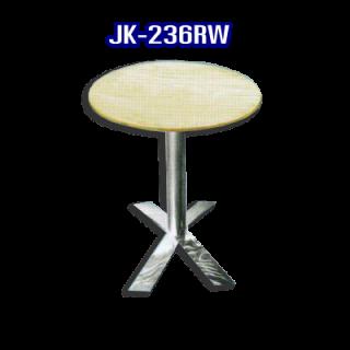 โต๊ะสแตนเลส ทรงวงกลม รหัส JK-236RW