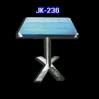 โต๊ะสแตนเลส ทรงสี่เหลี่ยม รหัส JK-236
