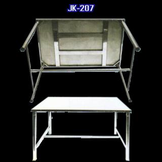 โต๊ะสแตนเลส พับได้ รหัส JK-207