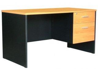 โต๊ะทำงาน 2 ลิ้นชัก เคลือบเมลามีนกันน้ำ 25 มม.