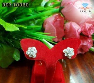 ต่างหูเพชรดอกกุหลาบ DBL 10080