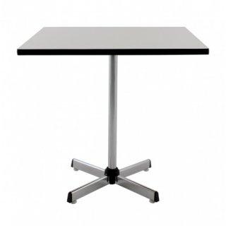 โต๊ะอาหารสี่เหลี่ยม ขา 4 แฉก หน้าเมลามีนขาว