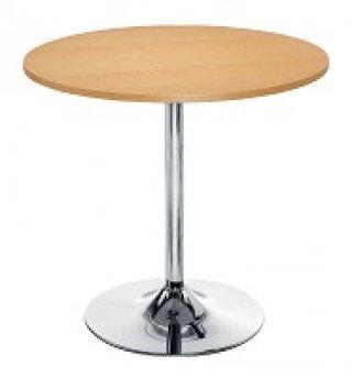 โต๊ะอาหารหน้าเมลามีน 25 มม. ขาแชมเปญชุปโครเมี่ยม