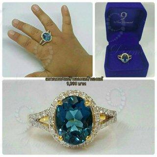 แหวนลอนดอนบลูโทปาสแท้