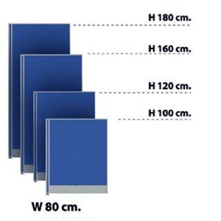 พาร์ทิชั่นแบบทึบ 80x100 สีน้ำเงิน