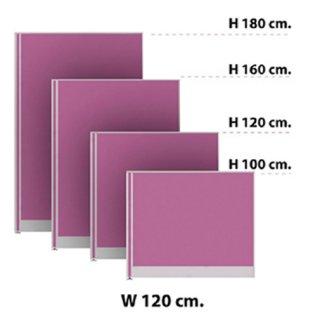 พาร์ทิชั่นแบบทึบ กว้าง 120 ซม. สีม่วง
