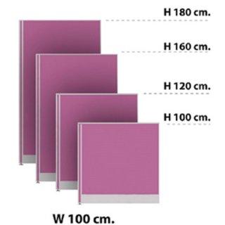 พาร์ทิชั่นแบบทึบ กว้าง 100 ซม. สีม่วง