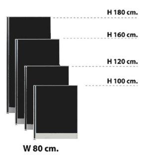 พาร์ทิชั่นแบบทึบ กว้าง 80 ซม. สีดำ