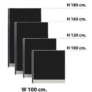 พาร์ทิชั่นแบบทึบ กว้าง 100 ซม. สีดำ