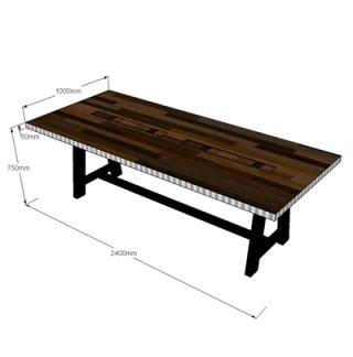 โต๊ะประชุม ขนาด 2400x1000x750 mm