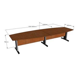 โต๊ะประชุม ขนาด 3600 x850x750 mm