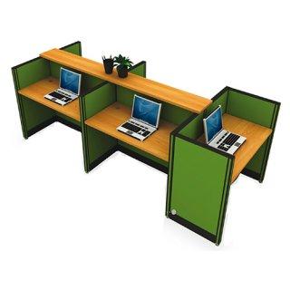 โต๊ะทำงาน 5 ที่นั่ง สีเขียว