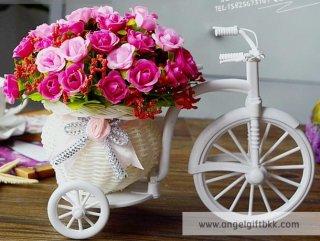 จักรยานดอกไม้ กุหลาบชมพู