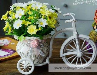 จักรยานดอกไม้ เดซี่ขาว เหลือง