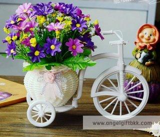 จักรยานดอกไม้ เดซี่สีม่วง