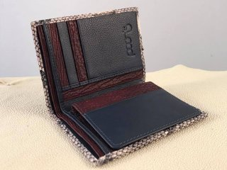 Mix exotic skins wallet vertical style