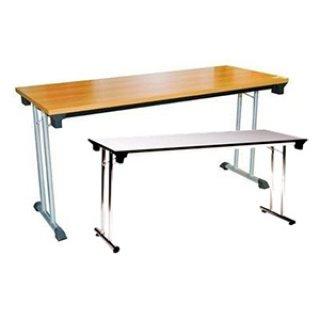 โต๊ะพับขาคู่หน้าเมลามีน 25 มิล ลายไม้