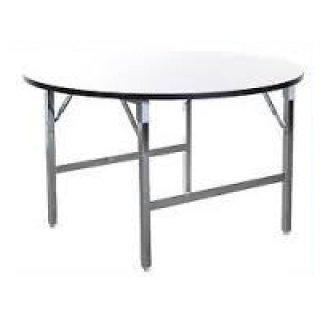 โต๊ะพับกลม หน้าฟอเมก้าขาวมัน