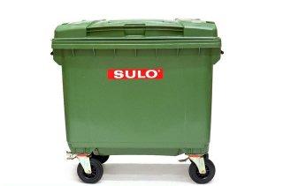 ถังขยะพร้อมล้อเข็น 660 ลิตรฝาเรียบ