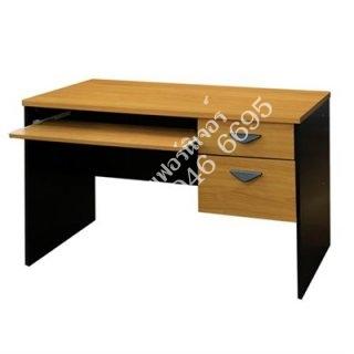 โต๊ะคอมพิวเตอร์เมลามีน 25 มิล 2 ลิ้นชัก