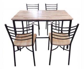 โต๊ะโรงอาหารขาเหล็กกลม