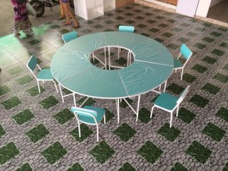 ชุดโต๊ะอนุบาล ทรงกลม