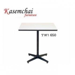 โต๊ะคาเฟ่หน้าเหลี่ยม ขา 4 แฉก พ่นดำ