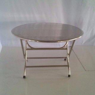 โต๊ะกลมสแตนเลส พับตั้ง