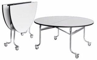 โต๊ะกลมพับหน้ามีล้อเลื่อน