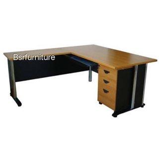 โต๊ะทำงานเมลามีน เหลี่ยม