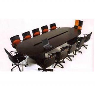 โต๊ะประชุมหัวท้ายครึ่งวงกลมขาไม้หรือชุปโครเมี่ยม