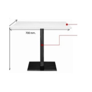 โต๊ะคาเฟ่ เสาเหล็กกลม 2 นิ้ว